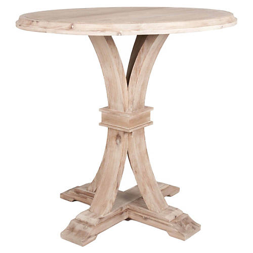 "Desmond 42"" Round Bar Height Dining Table, Stone"