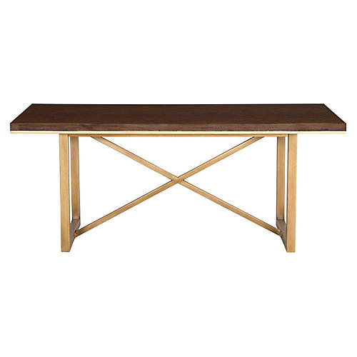 """Harlow 87"""" Dining Table, Rustic Java"""