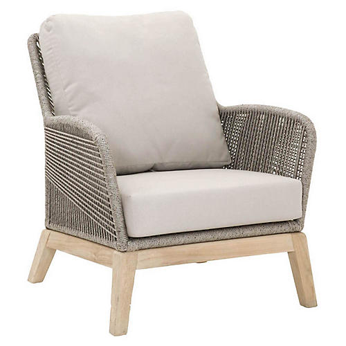 Easton Club Chair, Dark Gray/Platinum