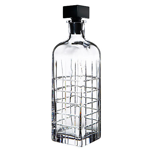 Street Decanter, Clear/Black