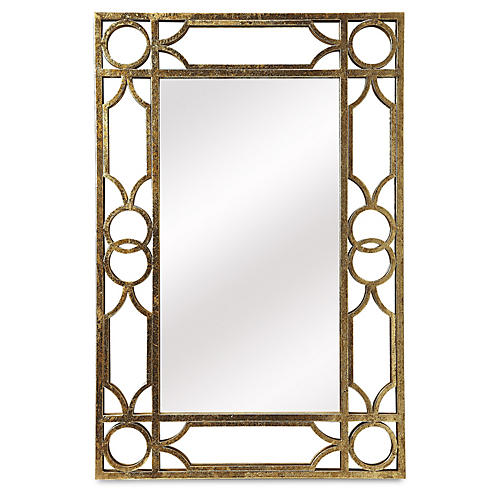 Pippa Wall Mirror, Antiqued Gold