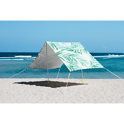 Palms Beach Tent, Green/White