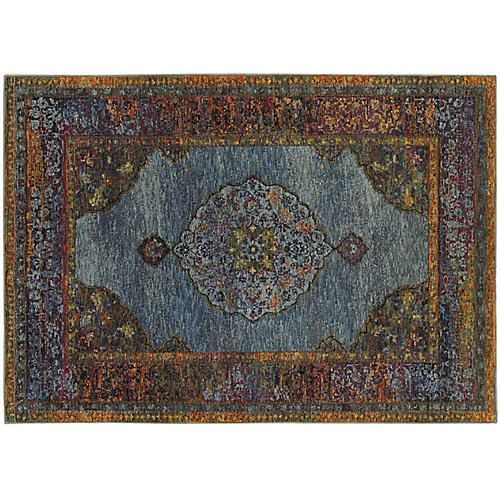 Cascais Rug, Blue/Multi