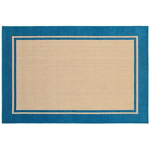 Cygnus Outdoor Rug, Sand/Blue