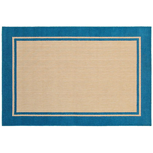 Cygnus Outdoor Rug, Sand/Blue