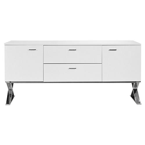 X-Leg Sideboard Table, White