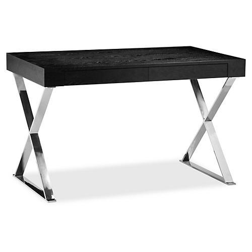 Alba X-Leg Desk, Black
