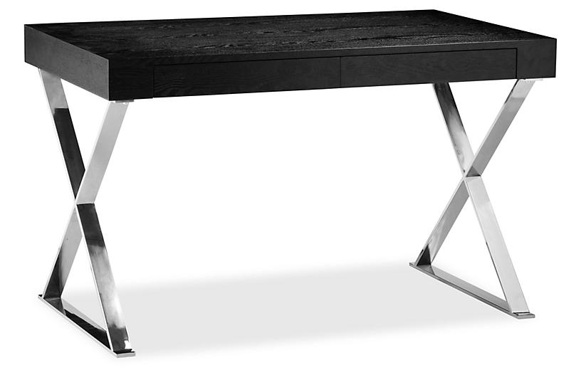 Alba X-Leg Desk - Black