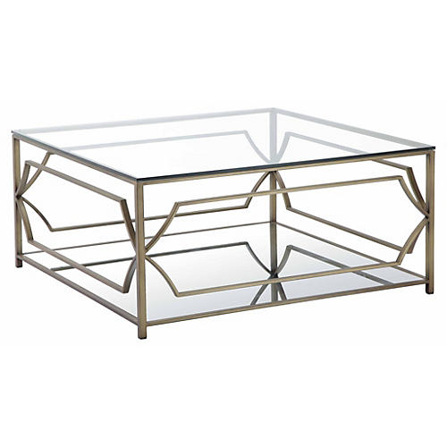 Edward Coffee Table, Brass