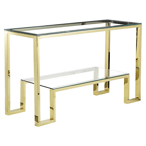 "Laurence 53"" Console, Gold"