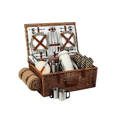 Dorset Basket & Blanket for 4 w/ Coffee