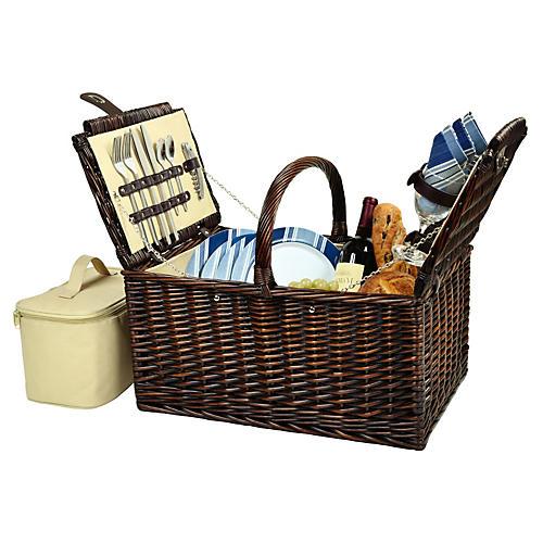 Buckingham Picnic Basket for 4