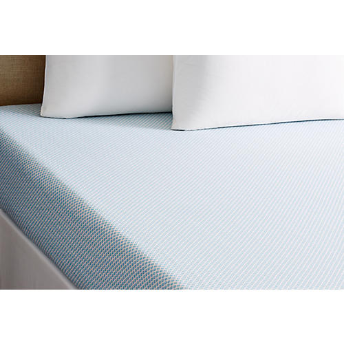 Emma Fitted Sheet, Aqua