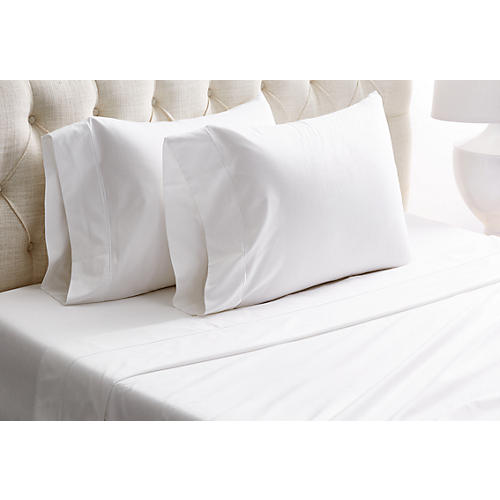 Barrata Sateen Sheet Set, White