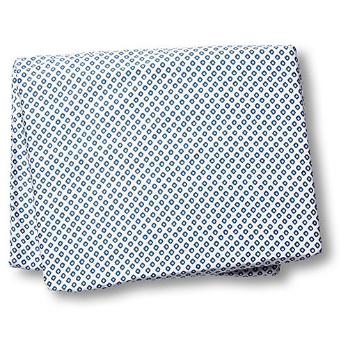 Emma Fitted Sheet, Blue