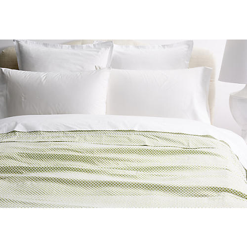 Emma Duvet Cover, Green