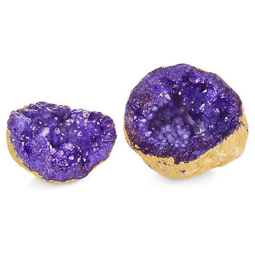 Decorative Geode, Purple