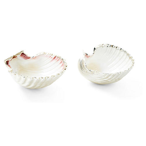 Pair of Silver-Plated Scallop Shells