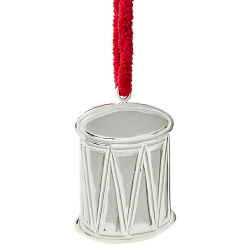 """3"""" Sterling-Silver Drum Ornament"""