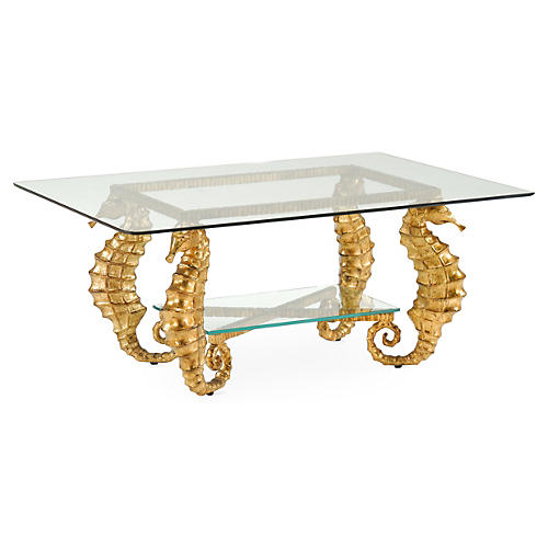 Seahorse Coffee Table, Gold