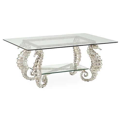 Seahorse Coffee Table, Silver