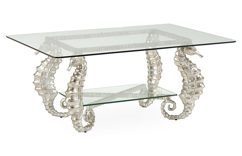 Seahorse Coffee Table, Silver