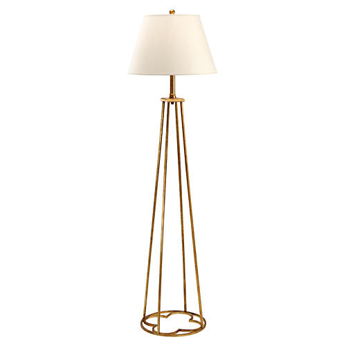 Club Floor Lamp, Old Gold