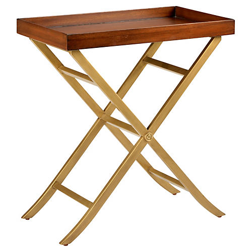 Reginald Tray Table, Gold