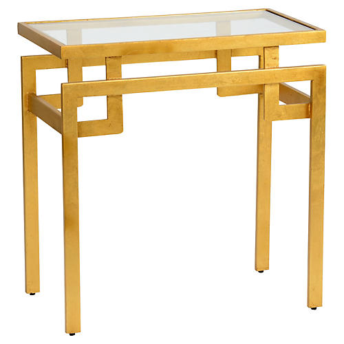 Hollander Side Table, Gold Leaf