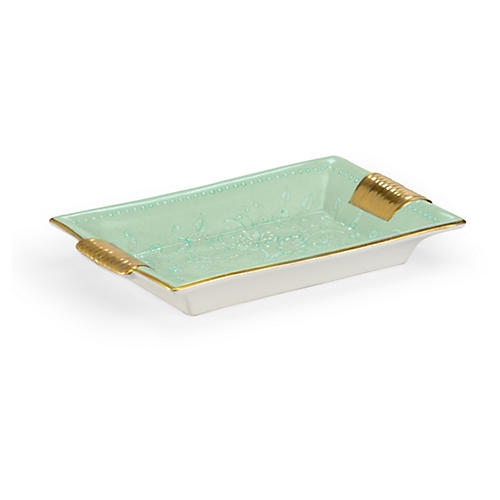 "10"" Relief Tray, Mint Green"