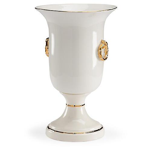 "18"" Ring Vase, Gold"