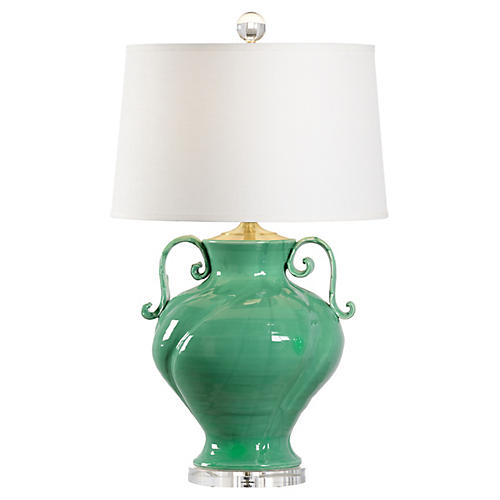 Verona Table Lamp, Green