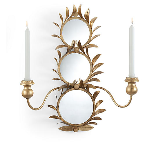 Harting 2-Light Sconce, Antiqued Gold