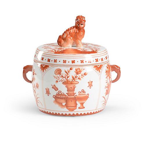 """10"""" Harvest Covered Jar, Pumpkin"""