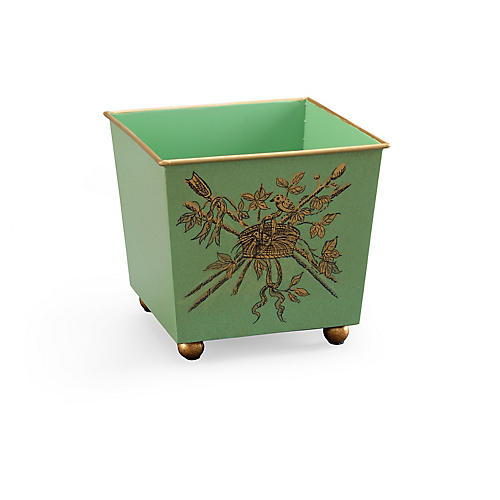 "6"" French Planter, Green"
