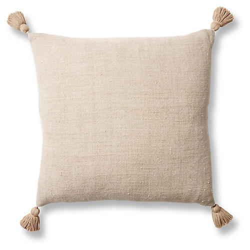 Montauk 20x20 Pillow, Natural Linen