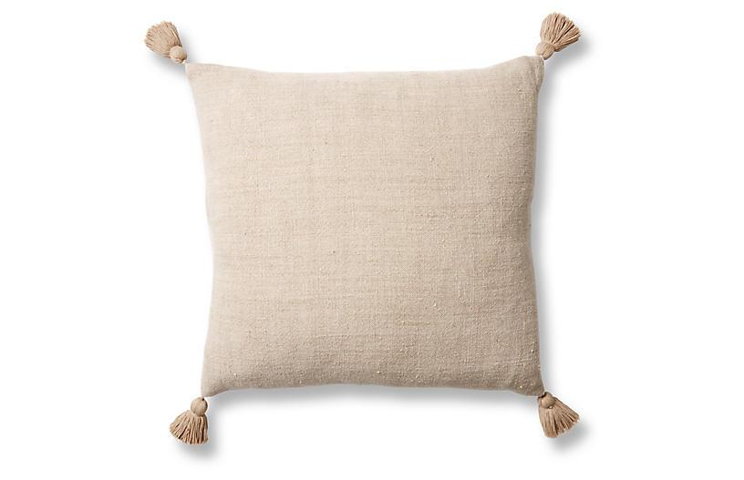Montauk 20x20 Pillow, Natural Linen