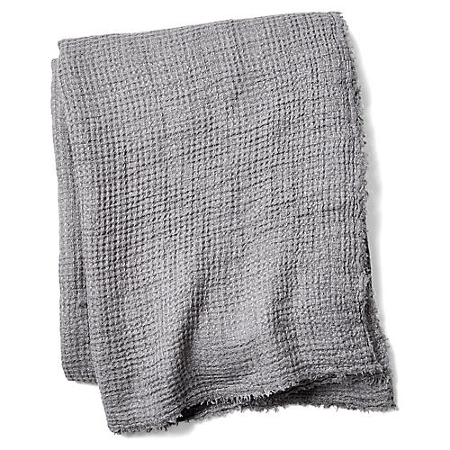 Venice Linen Throw, Midnight