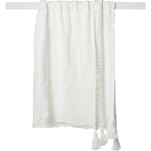 Helena Acrylic Throw, White