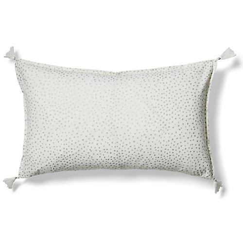 Dot 14x24 Lumbar Pillow, Silver