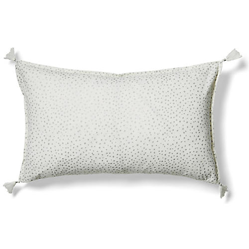 Dot 14x24 Lumbar Pillow, Silver