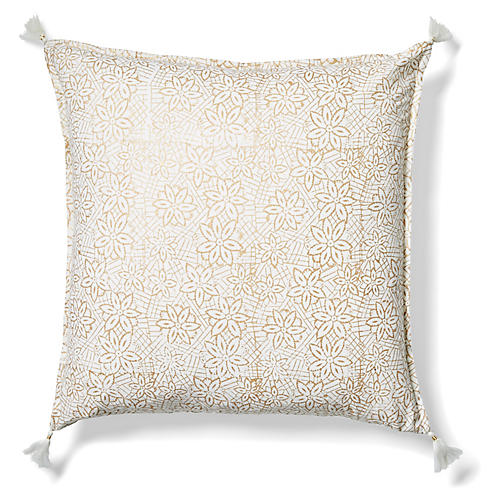 Keya 20x20 Pillow, Gold
