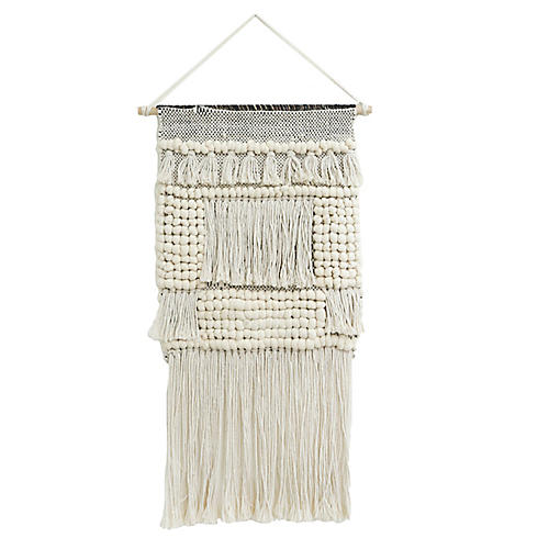 Younes Woven Wall Hanging, Ivory