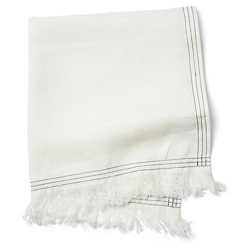 S/4 Jules Dinner Napkins, Cream