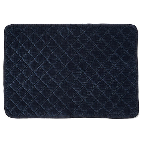 S/4 Hampton Place Mats, Navy