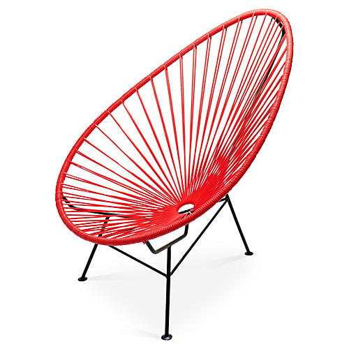 Acapulco Lounge Chair, Red
