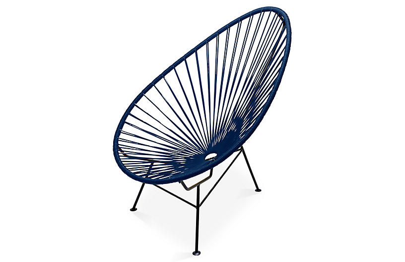 Acapulco Lounge Chair, Navy