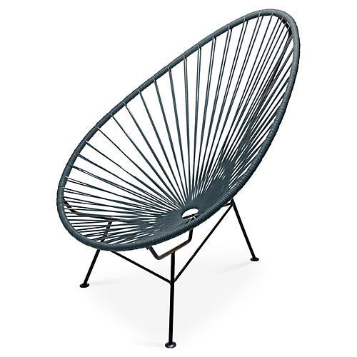 Acapulco Lounge Chair, Stone Gray