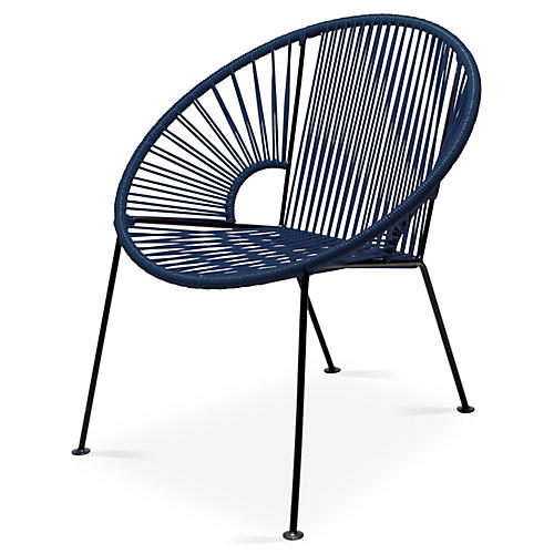 Ixtapa Lounge Chair, Navy