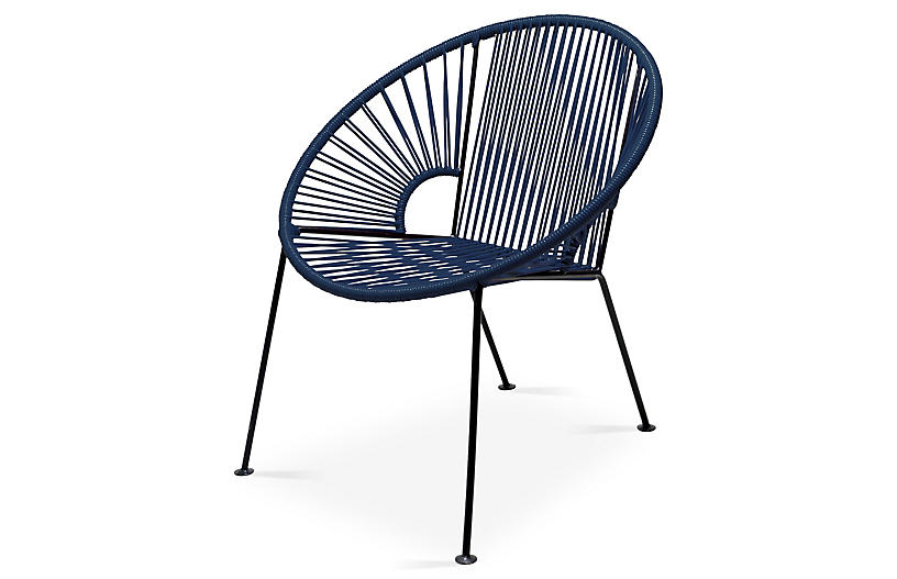 Ixtapa Lounge Chair, Navy
